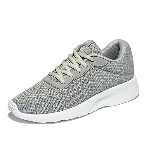 NDB Men's Women's Unisex Couple Casual Fashion Comfort Sneakers Outdoor Sport Gym Breathable Jogger Running Shoes (8.5 D(M) US, Grey)