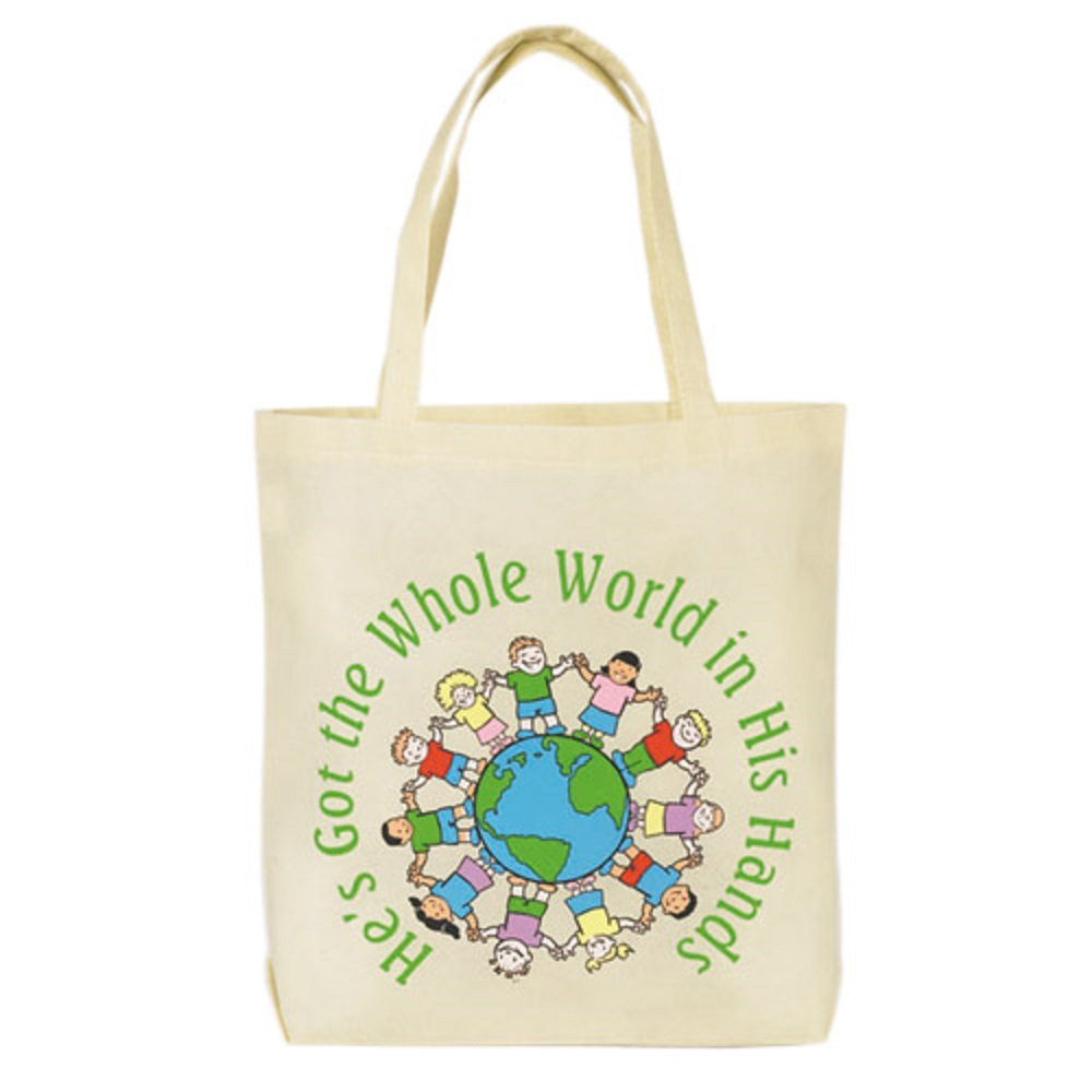 at001 He 's Got the Whole World Tote Bag – 12 / Pk B07BYC48M4