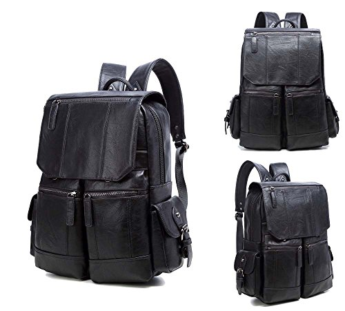 Faux Leather 14 inch Workout Carrying Laptop Backpack Bag Sleeve for Lenovo ThinkPad L480 / X1 Yoga / T480s / X1 Carbon (2018) / 25 / L470 / T470p / ()