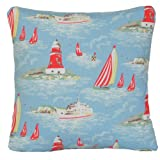 "14"" X 14"" Cushion Cover Pillowcase Cath Kidston Fabric Pattern Blue Boat"