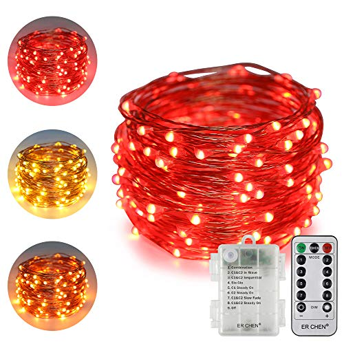 100 Count Red Led Christmas Lights in US - 7