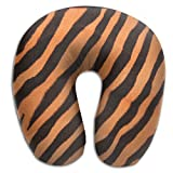 KopgLnm Tiger Texture Animal Print Neck Pillow Comfortable Soft Microfiber Neck-Supportive Travel Pillow Home, Neck Pain