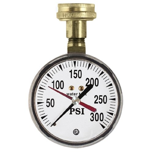 Uniweld TGW300, 2-1/2 Water Test Gauge with 3/4 Female Hose Connection, 300 PSI, Pack of 20 pcs by Uniweld (Image #1)