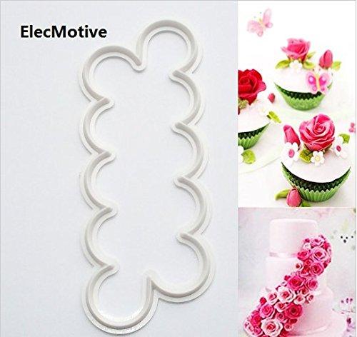 3x Rose Fondant Kuchen Tortendeko-Blumen Kuchenform Sugarcraf~
