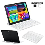 Blue Wind Ultra Thin Wireless Bluetooth Keyboard Aluminum Color Cover for Samsung Galaxy Tab 4 10.1