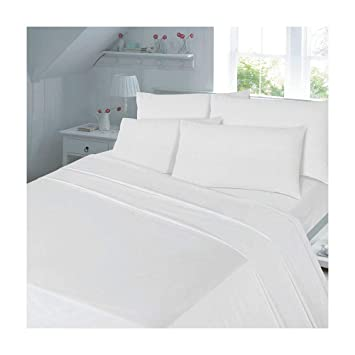 Superb Thermal Flannelette Flat Sheets Non Iron Bed Sheets New Single Double King  Size 180 Tread Count