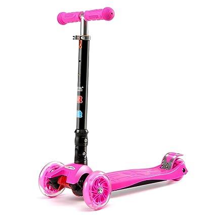 Patinete- Kick Scooter Rosa para Niños Pequeños, 3 Ruedas ...