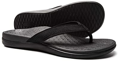 fe2cdb6cd993 SOARFREE Plantar Fasciitis Feet Sandal with Arch Support - Best Orthotic flip  Flops for Flat Feet