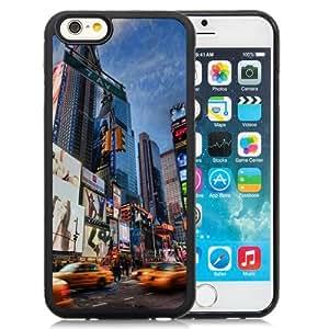 NEW Unique Custom Designed iPhone 6 4.7 Inch TPU Phone Case With Times Square Lockscreen_Black Phone Case