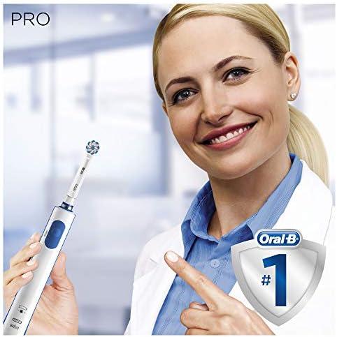 Braun Oral-B Pro1 - 750 - Brosse à Dents Électrique Rechargeable, 1Brossette, 1Étui de Voyage Offert