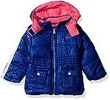 Pink Platinum Baby Girls Tonal Dot Puffer, Royal, 24M