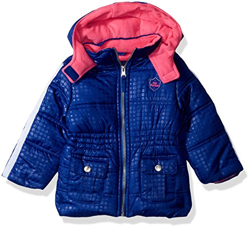Pink Platinum Baby Girls Tonal Dot Puffer, Royal, 24M by Pink Platinum