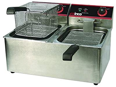 Winco EFT-32 Deep Fryer, electric, countertop double well