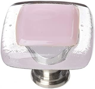 product image for Sietto K-717-SN Reflective 1-1/4 Inch Square Cabinet Knob