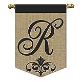"""Magnolia """"Monogram R Burlap Garden Flag, 13″ x 18"""" For Sale"""