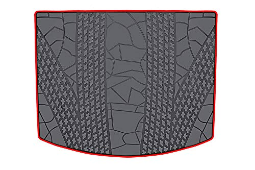 HD-Mart Cargo Liners Custom Fit Ford Escape 2012-2013-2014-2015-2016-2017-2018-2019 Trunk Mats, Black Rubber for All Weather - Heavy Duty & ()