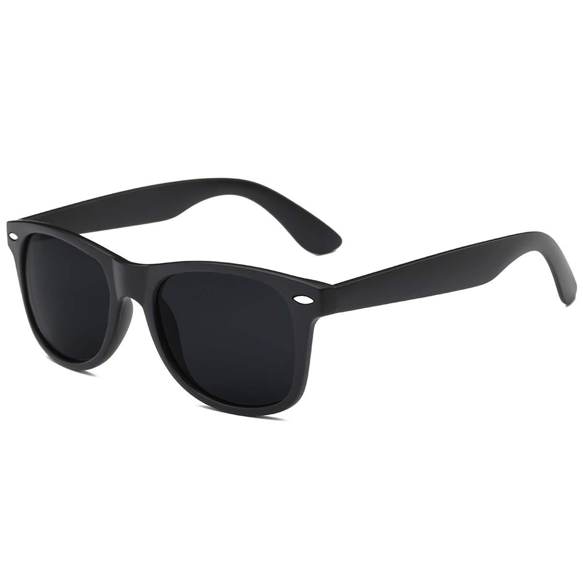 Polarized Sunglasses for Men Retro - FEIDU Polarized Retro Sunglasses for Men FD2149 (black-matte) by FEIDU