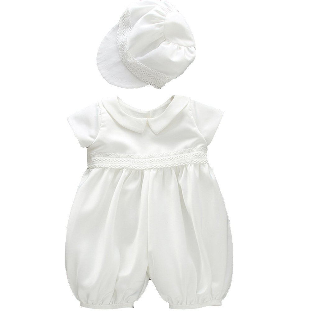Fancy Luu Baby Boys Christening Gowns Special Occasion Baptism Romper for Boys White