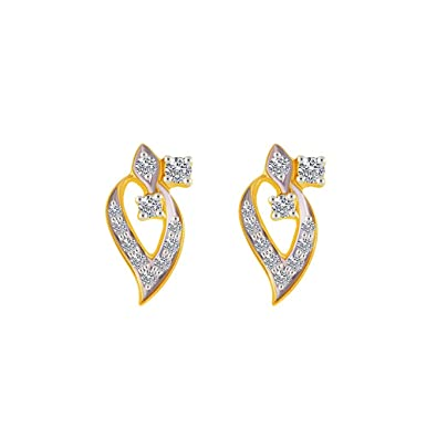 P. C. Chandra Jewellers 18 KT Yellow Gold and Diamond Clip On Earring for Women Earrings