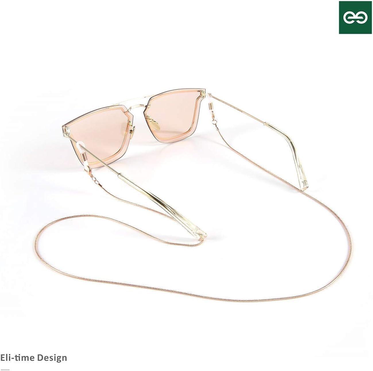 Eli-time Brillenkette f/ür Frauen//Damen Metall schnur Sonnenbrillenketten//Brillenhalter f/ür Lesebrillen//Halskette//Armband in verschiedenen Farben