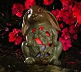 QVC Home Reflections H199231 Bunny Outdoor Spring Luminary w/ Flameless Candle