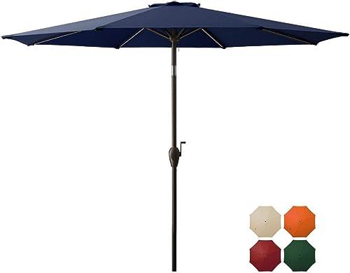 DOMICARE 9 ft Patio Umbrella,Outdoor Umbrella
