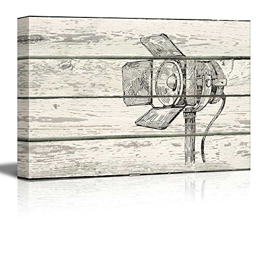 Studio Lighting Print CrossHatc Artworkh Rustic
