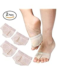 QIN JU Dance Foot Paws Pad Toe Thongs Undies Half Full Lyrical Shoes 2 Pairs