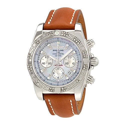 Breitling Chronomat 44 Mother of Pearl Diamond Automatic Mens Watch AB0110AA-G686BRLD