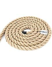 DQ-PP Jute touw | 10 m | 16 mm dik | koord natuurlijk bruin natuurlijke vezels | jutekoord | decoratief touw | decoratief koord | doe-het-zelf decoratie | macramé | tuin jute touw leuning