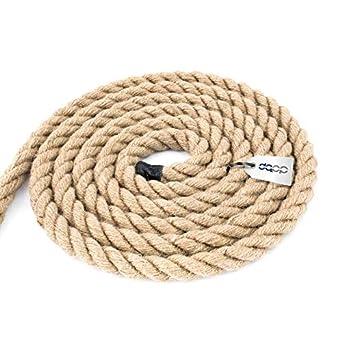 5m cuerda de yute 20mm 3-hebra