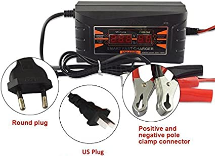 12V 6A Car Motorcycle Smart Fast Lead-acid Battery Charger LCD Display US PlugKA