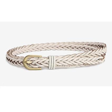 Styhatbag Cinturón de Mujer para Mujer La Correa Trenzada Flaca de la  Cintura de Las Mujeres f4366a0e3eaf