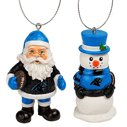 Carolina Panthers St. Nick and Snowman