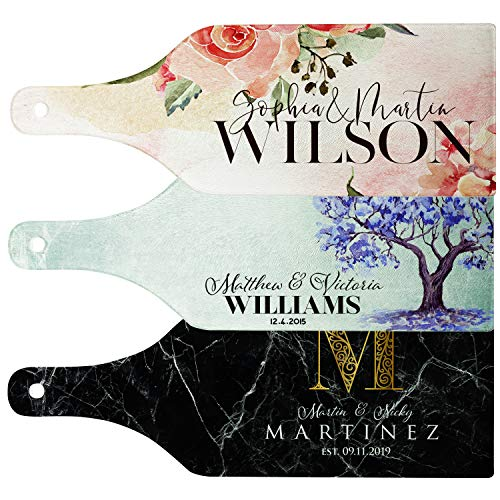 Personalized Cutting Board - 12 Designs, Glass Cutting Board - Wedding Gifts for Couples, Housewarming Gifts, Anniversary Gift for Her, Gift for Parents and Grandma, Kitchen Sign - Cheese Board