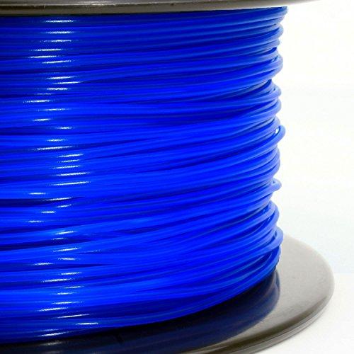 3D Solutech See Through Blue 3D Printer PLA Filament 1.75MM Filament Dimensional Accuracy +//- 0.03 mm 2.2 LBS 1.0KG 3DSPLA175STBLU