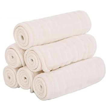 QIAN Alta densidad de los pañales de gasa de algodón recién nacido de los pañales de