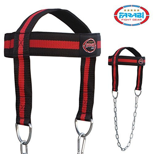 Head Harness Body Building Head Strap comfort training with chain by Farabi Sports by Farabi