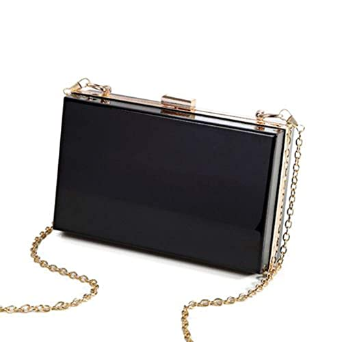 babb6087f847 L-COOL Transparent Acrylic Shoulder Bag Clear Crossbody Evening Clutch Bag  With Gold Chain Shoulder