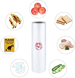 10 IN(W) x15 IN(L), 750 bags per roll,ONLY $0.019/Count, Plastic Produce Bags roll with Twist Ties,Vegetables bags, Clear Grocery Bags Roll, Organization and Storage for food and Pet food