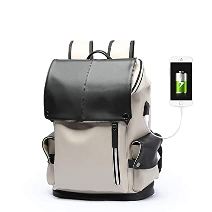 4239f6f1e3a6 Amazon.com: IhDFR Men's Leather Backpack Fashion Trend Bag Business ...
