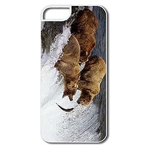 IPhone 5 5s Case Shell Brown Bears Alaska - Custom Love IPhone 5 5s Skin For Her