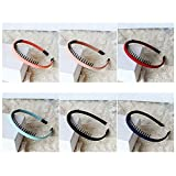 Spritech(TM) 6 Colours Women's Girls Fashion Korea Headband Plastic Teeth Comb Hairband Hair Hoop