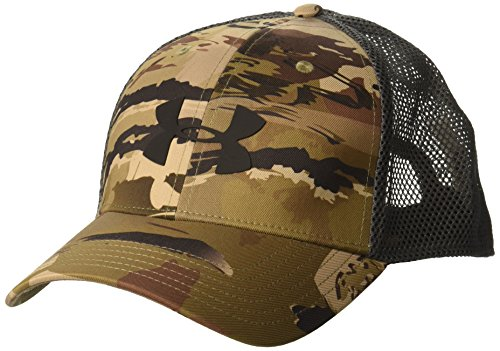 Under Armour Men's Camo Mesh Cap 2.0, Ua Barren Camo (999)/Black, One Size