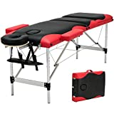 84''L 3 Fold Portable Aluminum Massage Table Facial SPA Bed Tattoo W/ Carry Case