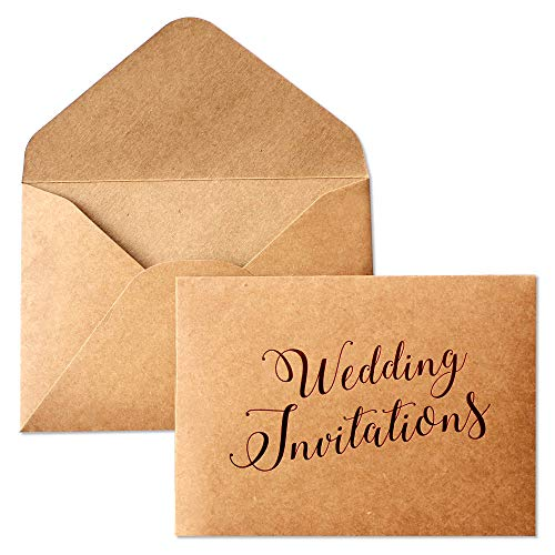 """Picky Bride Rustic A7 Envelopes for Wedding Invitation (20pcs) Envelopes for Wedding Invite Cards, 5.5"""" x 7.5"""" Envelope, Pack of 20"""