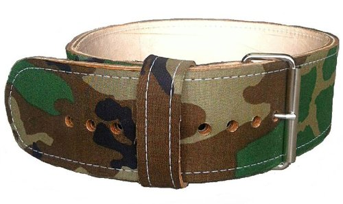 13mm Thick Camouflage Leather Powerlifting
