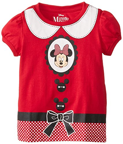 [Disney Little Girls' Minnie Mouse Costume Girls T-Shirt, Red, 4T] (Little Girl Minnie Mouse Costumes)