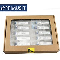 10 Pack PRIMUSIT 100% Cisco compatible GLC-SX-MMD 1.25Gb/s optical transceiver 850nm 550m with DDM