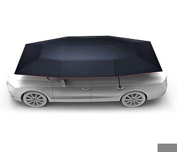 Carpa Autoportada Plegable Control Remoto Portátil Auto Protección Paraguas Refugio Car Hood,Black